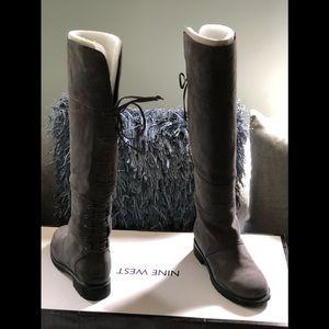 Nine West Women's Gray Mavira Boots